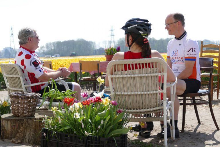 koffie stop voor fietsers